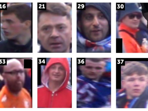 Police want to speak to these people in relation to the disorder that happened in Glasgow (Police Scotland)