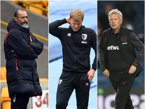 Everton are looking for a new manager (Andy Rain/Peter Powell/NMC Pool/Molly Darlington/PA)
