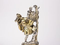 The 15th century German figure of Saint Christopher is valued at £10m (Department for Digital, Culture, Media and Sport/PA)