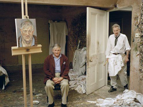 Lucian Freud and David Hockney (David Dawson/Bridgeman Images/PA)