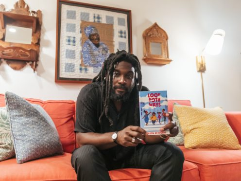 Jason Reynolds has won a major literary prize for his book Look Both Ways (Adedayo 'Dayo' Kosoko/PA)