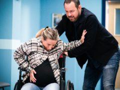 Dani Dyer and her father Danny in EastEnders (Kieron McCarron/Jack Barnes/PA)