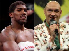 Anthony Joshua, left, and Tyson Fury (Nick Potts/Bradley Collyer/PA)