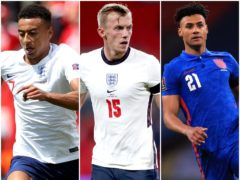 Jesse Lingard, James Ward-Prowse and Ollie Watkins were among the six names cut from England's squad (Tim Goode/Nick Potts/Adam Davy/PA)