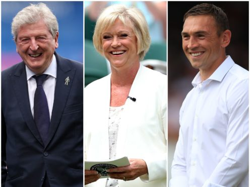Roy Hodgson, Sue Barker and Kevin Sinfield have been recognised in the Queen's Birthday Honours List (Clive Rose/John Walton/Mike Egerton/PA)