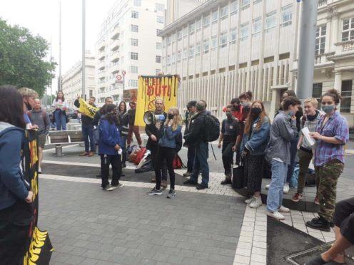 Young activists are demonstrating against the Science Museum's links with Shell (UKSCN London/PA)