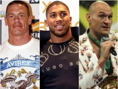 John Cena, Anthony Joshua and Tyson Fury (Matt Crossick/John Walton/Bradley Collyer/PA)