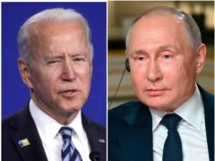 Joe Biden and Vladimir Putin (PA)