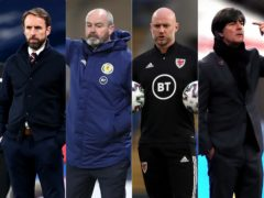Gareth Southgate, Steve Clarke, Robert Page and Joachim Low are gearing up for friendlies this week (PA)