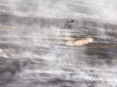 Fire burning on Winter Hill destroying much of the Smithills estate (Joel Goodman/Woodland Trust/PA)