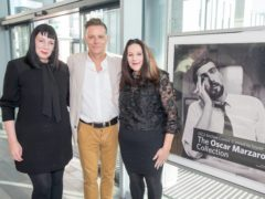 Ricky Ross with Nicola Marzaroli (left) and Marie-Claire Marzaroli (Peter Devlin/PA)