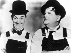 Comedy duo Stan Laurel and Oliver Hardy in the documentary film When Comedy Was King. 1960 (PA)