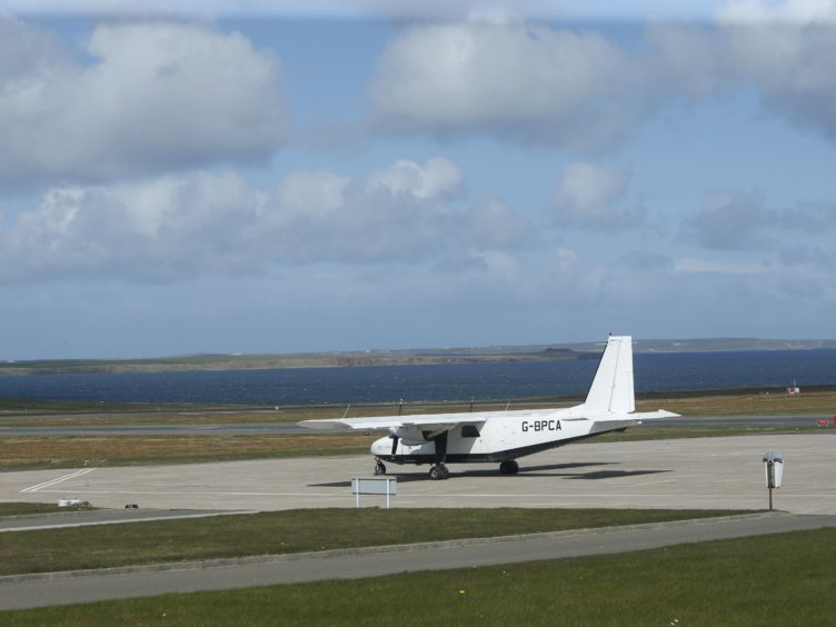 Kirkwall Airport is among those closed due to strike action (Danny Lawson/PA)