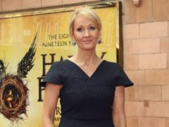 JK Rowling said she has received threats from 'hundreds of trans activists' while sharing a tweet calling for a pipe bomb to be sent to her home (Yui Mok/PA)