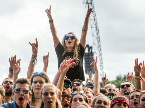 Festival-goers at Leeds Festival at Bramham Park (Danny Lawson/PA)