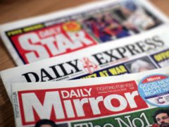 The Daily Mirror, Daily Star and Daily Express owner Reach has posted rebounding sales over the past half-year (Yui Mok/PA)