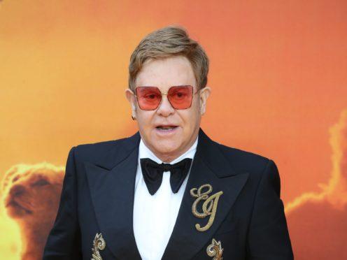 Sir Elton John criticised the US rapper (Jonathan Brady/PA)