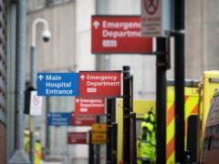 The latest waiting time figures show 19.9% of A&E patients waited more than four hours in the week ending July 11 (Stefan Rousseau/PA)