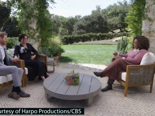 The Duke and Duchess of Sussex's bombshell interview with Oprah Winfrey has been nominated for an Emmy Award (ITV Hub /Harpo Productions/CBS/PA)