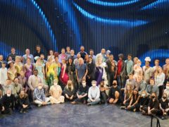 The cast and crew of Andrew Lloyd Webber's production of Cinderella at the Gillian Lynne Theatre (Andrew Lloyd Webber/PA)