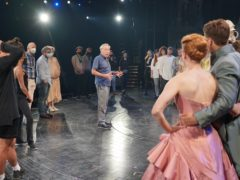 Andrew Lloyd Webber with the cast and crew of Cinderella (Andrew Lloyd Webber/PA)