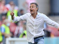 Spain coach Luis Enrique did not hide his emotions in his side's last-16 win against Croatia (Stuart Franklin/AP)