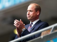 The Duke of Cambridge has been in the stands for a number of England's games during Euro 2020 (PA)