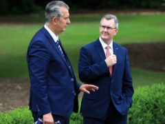 New DUP leader Sir Jeffrey Donaldson has said he wants to see his party heal after the recent deep divisions, and that he has reached out to Edwin Poots (Peter Morrison/PA)