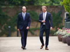 The Duke of Cambridge and Duke of Sussex together (Yui Mok/PA)