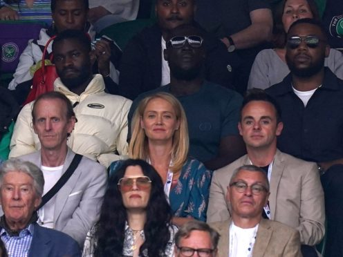 Dave, Stormzy, Anne-Marie Corbett and Ant McPartlin at The All England Lawn Tennis and Croquet Club (Adam Davy/PA)