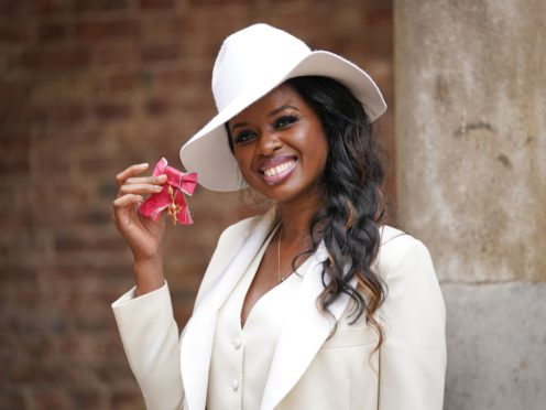 TV presenter and BBC director of creative diversity June Sarpong after receiving her OBE for services to broadcasting from the Princess Royal at an investiture ceremony at St James's Palace (Victoria Jones/PA)