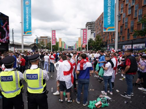 Some parts of the policing of the final has come under fire (Zac Goodwin/PA)