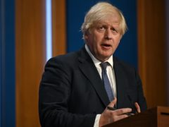 Prime Minister Boris Johnson during a media briefing in Downing Street, London (Daniel Leal-Olivas)