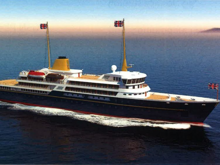 An artist's impression of a new national flagship, the successor to the Royal Yacht Britannia, which Prime Minister Boris Johnson has said will promote British trade and industry around the world (Downing Street/PA)