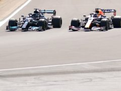 Lewis Hamilton and Max Verstappen collided at the start of the Grand Prix (Tim Goode/PA)