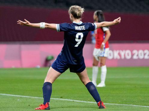 Ellen White scored her third goal of the tournament against Japan (Silvia Izquierdo/AP)
