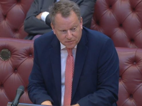 Brexit minister Lord Frost making a statement to members of the House of Lords (House of Lords/PA)