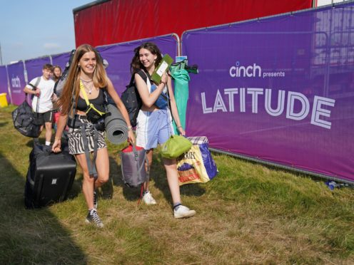 Around 40,000 music fans are expected at Latitude this weekend (Jacob King/PA)