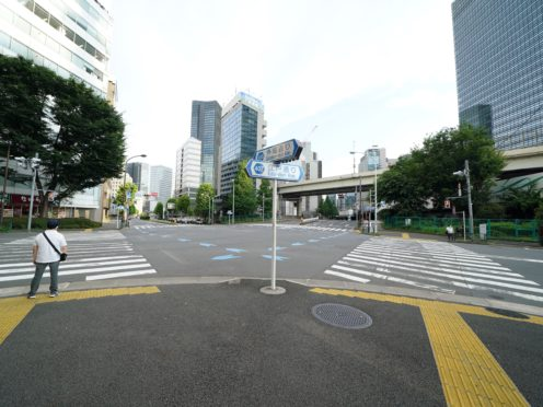 Visiting media are put under stopwatch when they take to the tantalising Tokyo streets (Martin Rickett/PA)