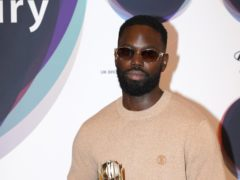 Ghetts holding the shortlist trophy during the announcement of the shortlist for the Hyundai Mercury Prize (Jonathan Brady/PA)