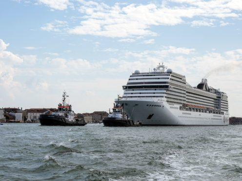 The MSC Orchestra cruise ship leaves Venice, Italy (Antonio Calanni/AP)