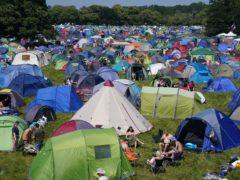 The campsite at the Latitude Festival in Henham Park, Suffolk (Jacob King/PA)