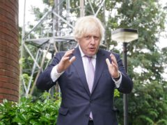 Prime Minister Boris Johnson during a visit to Surrey Police HQ in Guildford to coincide with the publication of the Government's Beating Crime Plan (Yui Mok/PA)