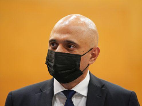 Health Secretary Sajid Javid (Dominic Lipinski/PA)