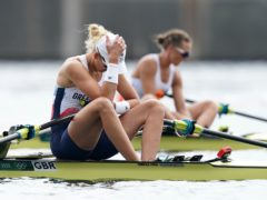 Great Britain's Victoria Thornley reacts after finishing fourth in the women's single sculls (Mike Egerton/PA)