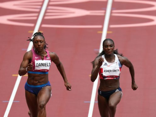Dina Asher-Smith came second in her 100m heat at the Olympics (Martin Rickett/PA)