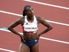 Dina Asher-Smith after her 100m semi-final in Tokyo (Martin Rickett/PA)