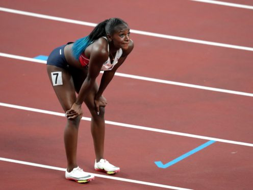 Dina Asher-Smith suffered a serious hamstring injury last month. (Martin Rickett/PA)