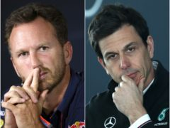 Christian Horner, left, and Toto Wolff, right, visited the stewards after Lewis Hamilton's crash with Max Verstappen (David Davies/Tim Goode/PA)