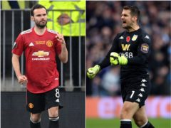 Juan Mata, left, has a signed a new one-year deal and Tom Heaton returns to the club after 11 years (Rafal Oleksiewicz/Nick Potts/PA)